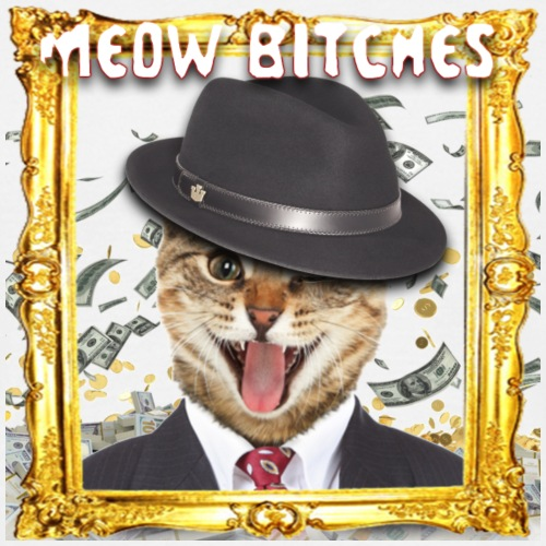 Mafia Cat + Frame - Men's T-Shirt
