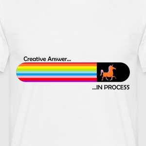 Creative answer is loading Unicorn - Men's T-Shirt