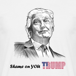 shame on you trump - Men's T-Shirt