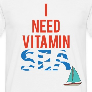 Sailing: I need Vitamin Sea - Men's T-Shirt