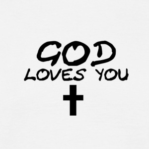 God Loves You - Men's T-Shirt