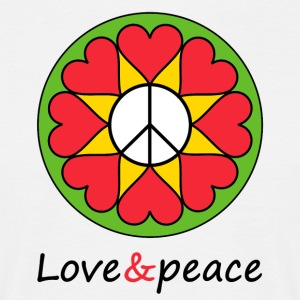 Love & peace Mandala - Men's T-Shirt