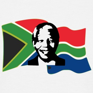 mandela stencil flag - Men's T-Shirt