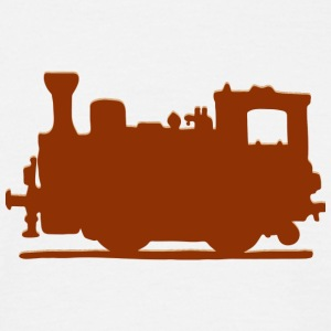 Vintage Steam Train - Herre-T-shirt