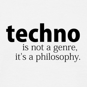 techno is niet een genre - Mannen T-shirt
