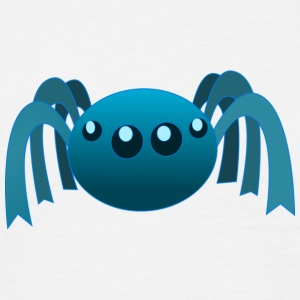 Blue spider - Mannen T-shirt