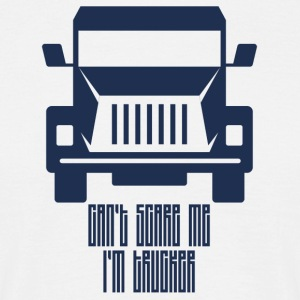 Trucker / Truck Driver: Can't Scare Me. I'm Trucker. - Men's T-Shirt
