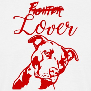 Hund / Pitpull: Fighter eller Lover - Herre-T-shirt