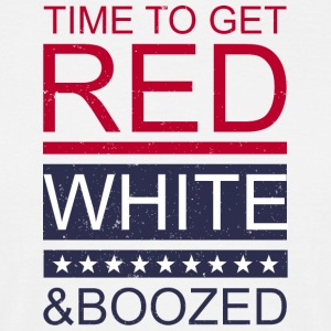 Time to get red white and boozed - Männer T-Shirt