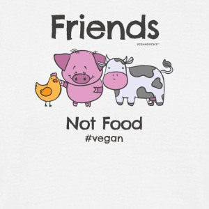 Friends Not Food TShirt for Vegans and Vegetarians - Men's T-Shirt
