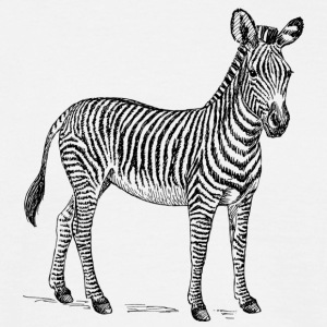 Zebra sort - Herre-T-shirt