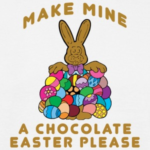 Easter Make Mine A Chocolate Easter Please - Men's T-Shirt