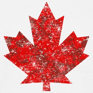 Canada Canada Maple Leaf Maple Leaf Grunge-Amerika - T-skjorte for menn