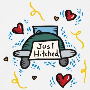 Just Married Just Hitched - T-shirt herr