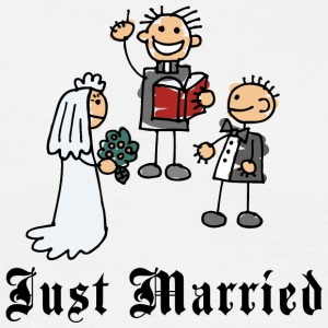 Funny Just Married - T-skjorte for menn