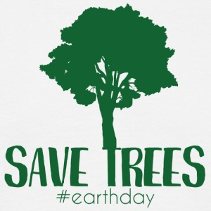Jordens Jordens Dag / dag: Save Trees #earthday - Herre-T-shirt