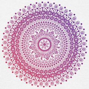 Mandala in red and purple tones, hand drawn - Men's T-Shirt