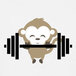 fitness Monkey - Mannen T-shirt