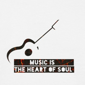 Music is the heart of soul - T-shirt Homme