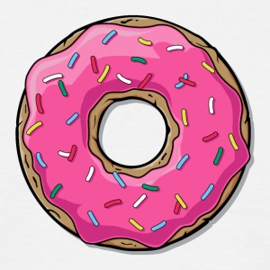 Cartoon Donut Donut - T-skjorte for menn