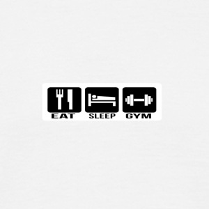 Eat Sleep Gym - Mannen T-shirt