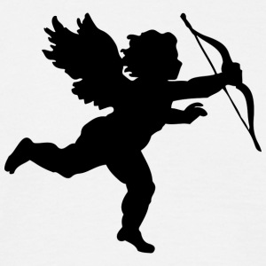 Cupid Bow and Arrow Angel Design for couples - Men's T-Shirt