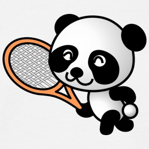 Sweet Panda met tennisracket - Mannen T-shirt