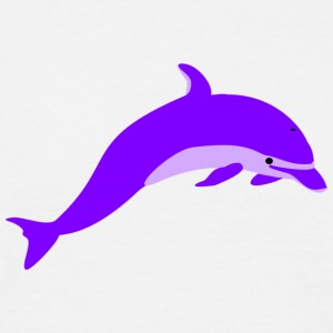 Purple dolphin - Men's T-Shirt
