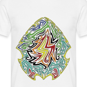digital abstract shield multicolor - Maglietta da uomo