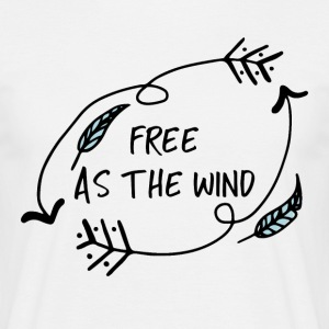 Hippie / Hippies: Free as the Wind - Men's T-Shirt