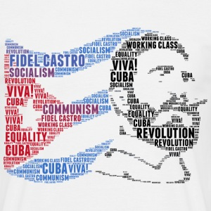 fidel castro vlag word cloud - Mannen T-shirt