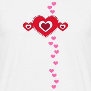 Valentine heart in love love luck Flirt - Men's T-Shirt