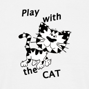 Play_Cat_Black1 - T-shirt Homme