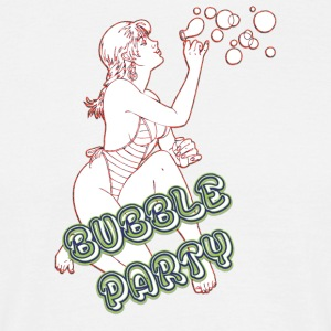 BUBBLE PARTY MIT SEXY GIRL - Männer T-Shirt