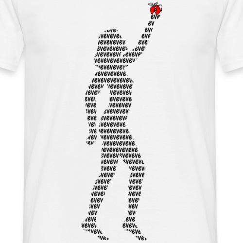 Eve la pomme silhouette mot eve dans tous les sens - T-shirt Homme