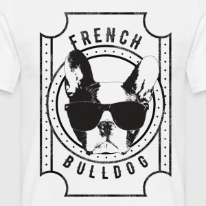 French Bulldog - T-skjorte for menn