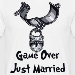 Game Over Just Married - Men's T-Shirt