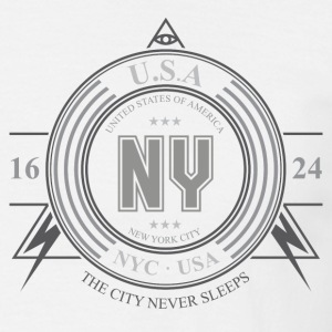 New York by - T-skjorte for menn
