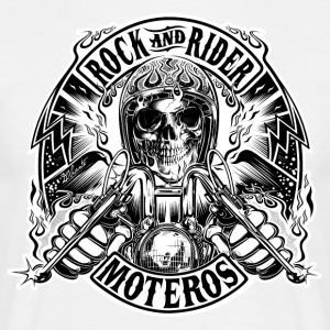 Rock And Rider Moteros Skull BW - Camiseta hombre