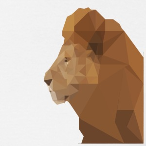 low poly lion - Men's T-Shirt