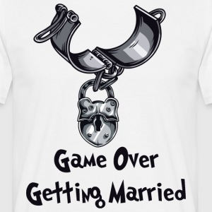 Game Over Getting Married - T-shirt herr