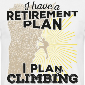 Retirement plan climbing (dark) - Men's T-Shirt