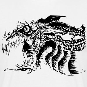 Black and White Dragon. - Men's T-Shirt