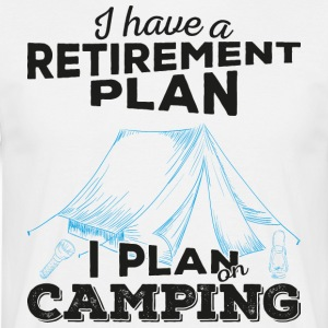 Retirement plan camping (mørk) - T-skjorte for menn