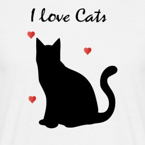 I love Cats - T-shirt Homme