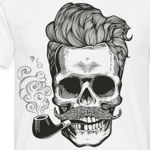 skull_pipe - T-skjorte for menn