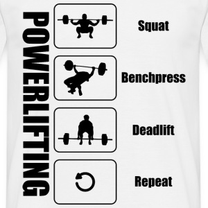 Powerlifter Lifestyle Sort - Herre-T-shirt