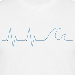 cardiowaves blue - Men's T-Shirt