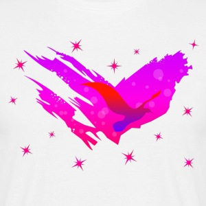 Space Atlas Ladies tee Pink Star - Men's T-Shirt