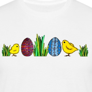 Easter Egg Chick Pâques poussins Printemps herbe oeuf - T-shirt Homme